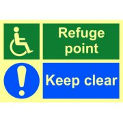 Refuge point Keep clear - PHO (300 x 200mm)