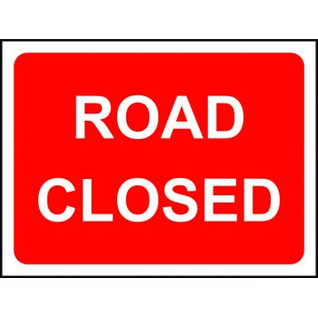 Spectrum Industrial Road Closed - Classic Roll up traffic sign (1050 x 750mm)