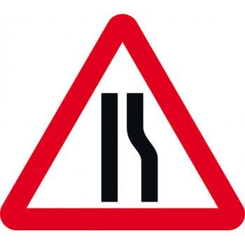Spectrum Industrial Road narrows offside - Q Sign (750mm)