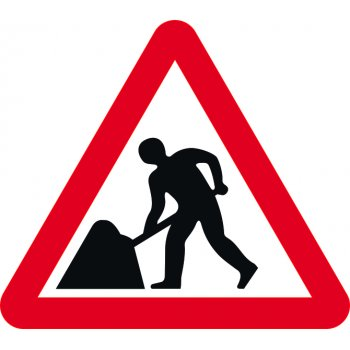 Spectrum Industrial Road works - Classic Roll up traffic sign (750mm Tri)