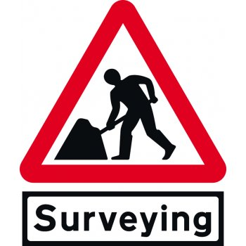 Spectrum Industrial Road works & Surveying Supp plate - Classic Roll up traffic sign (600mm Tri)