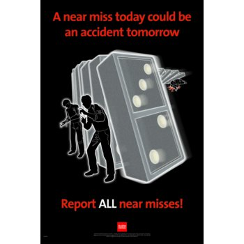 Spectrum Industrial RoSPA Safety Poster - A near miss today... (Paper)