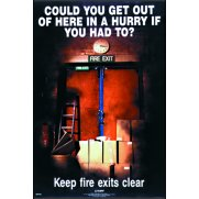 RoSPA Safety Poster - Could you get out of here? (Laminated)