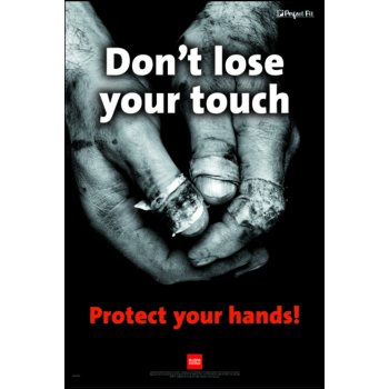 Spectrum Industrial RoSPA Safety Poster - Dont loose your touch (Laminated)