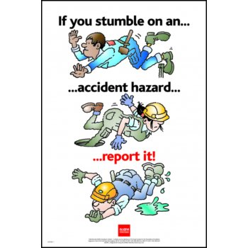 Spectrum Industrial RoSPA Safety Poster - If you stumble on an accident... (Paper)