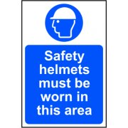 Safety helmets must be worn in this area - Correx (200 x 300mm)
