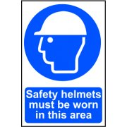 Safety helmets must be worn in this area - PVC (200 x 300mm)