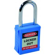 Safety Lockout Padlocks - Blue (6 pack)