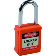 Safety Lockout Padlocks - Orange (6 pack)