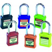 Safety Lockout Padlocks - Rainbow Pack (6 pack mixed colours)