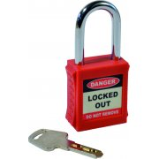 Safety Lockout Padlocks - Red (6 pack)