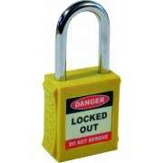 Safety Lockout Padlocks - Yellow (6 pack)