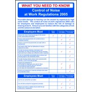 Safety Poster: Noise at Work Regulations - RPVC (400 x 600mm)