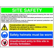 Site Safety Composite - Correx (800 x 600mm)