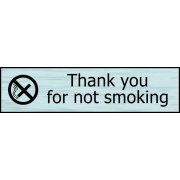 Thank you for not smoking - SSE (200 x 50mm)