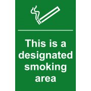 This is a designated smoking area - PVC (200 x 300mm)
