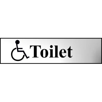 Spectrum Industrial Toilet (with disabled symbol) - CHR (200 x 50mm)