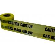 Underground Tape 150mm x 365mtrs Gas main below