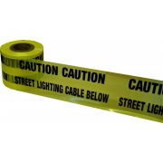 Underground Tape 150mm x 365mtrs Street lighting cable below