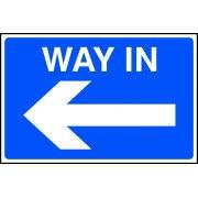 Way in arrow left - FMX (600 x 400mm)