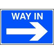 Way in arrow right - FMX (600 x 400mm)