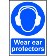 Wear ear protectors - PVC (200 x 300mm)