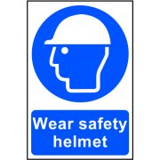 Wear Safety Helmet - PVC (200 x 300mm)