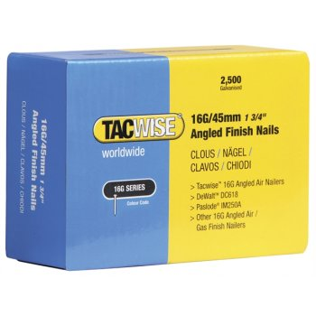 Tacwise 16 Gauge Angled Nails 32mm For DC618K Pack 2500