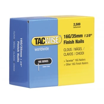 Tacwise 16 Gauge Ranger Finish Nails 35mm Pack 2500