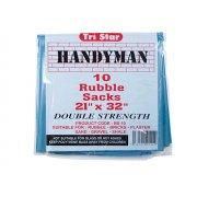 Tristar Heavy-Duty Blue Rubble Sacks (10) 20 x 31in
