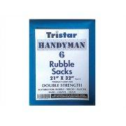 Tristar Heavy-Duty Blue Rubble Sacks (6) 21 x 32in