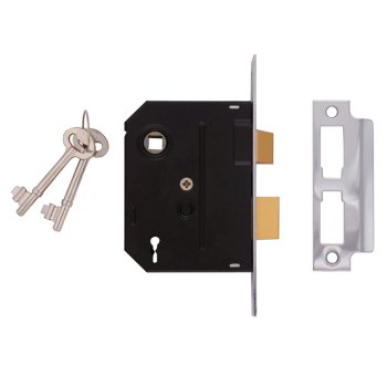 UNION 2295 2 Lever Mortice Sashlock Chrome Finish 63mm 2.5in Visi