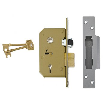UNION 3G115 C Series 5 Lever Deadlock 67mm 2.5in Satin Chrome