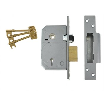 UNION 3K74E 5 Lever Mortice Rollerbolt Sashlock C-Series 67mm Brass