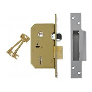UNION 3K75 C Seriec 5 Lever Sashlock 67mm Brass
