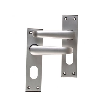UNION Ambassador Oval Plate Door Furniture Anodised Silver Visi Pack