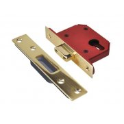 UNION StrongBOLT 21EU EUS-PB-3.0 Euro Deadlock Plated Brass 81mm 3in