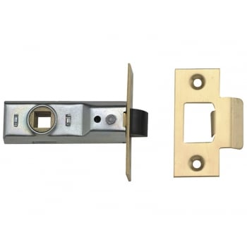 UNION Tubular Mortice Latch 2648 Polished Brass 64mm 2.5in Box
