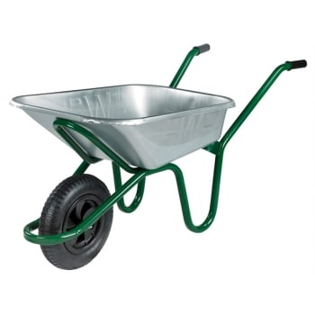Walsall 90L Galvanised Heavy-Duty Endurance Wheelbarrow