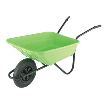 Walsall 90L Lime Polypropylene Wheelbarrows