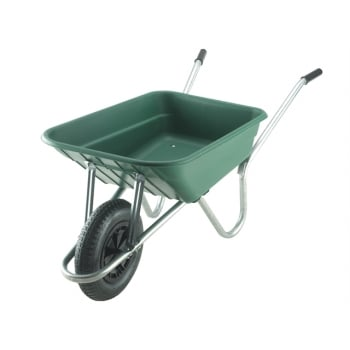 Walsall 90L Royale Green Polypropylene Galvanised Barrows Min Quantity of 15 Mixed Only