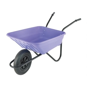 Walsall Boxed 90L Lilac Polypropylene Wheelbarrow