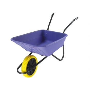 Walsall Boxed 90L Lilac Polypropylene Wheelbarrow - Puncture Proof