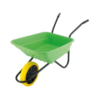 Walsall Boxed 90L Lime Polypropylene Wheelbarrow - Puncture Proof