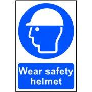 Wear Safety Helmet - PVC (200 x 300mm)