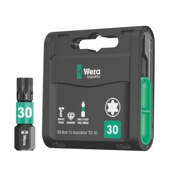 Wera Bit-Box 15 Impaktor TX30 x 25mm 15 Piece