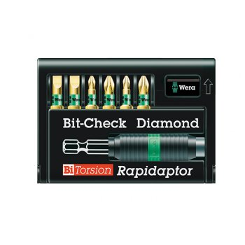 Wera Bit-Check Set BiTorsion Diamond 8700 Set of 7 PZ, PH, SL Carded