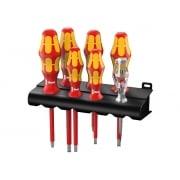 Wera Kraftform VDE Screwdriver Set of 7 4 x SL 2 x PZ 1 x Volt