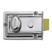 Yale Locks 77 Traditional Nightlatch 60mm Backset Chrome Finish Box
