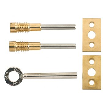 Yale Locks 8013 Dual Screw Window Lock Brass Finish Pack of 2